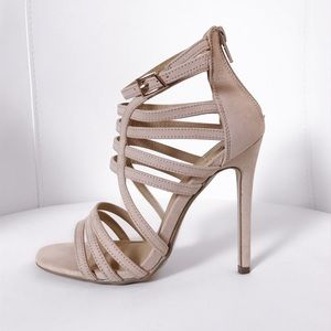 Strappy Heels | Nude color | MISSGUIDED